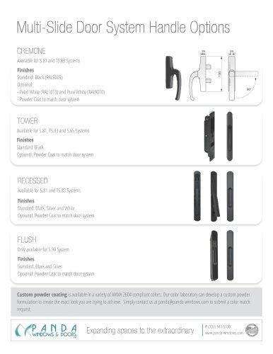 Multi-Slide Door System Handle Options