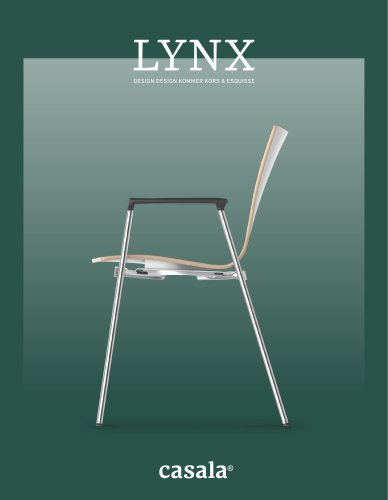Nix Design Stoelen.Lynx Brochure Casala Pdf Catalogs Documentation Brochures