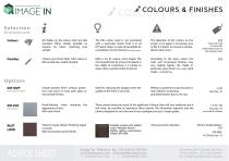 IMAGE'IN - Colours, Finishes and Options