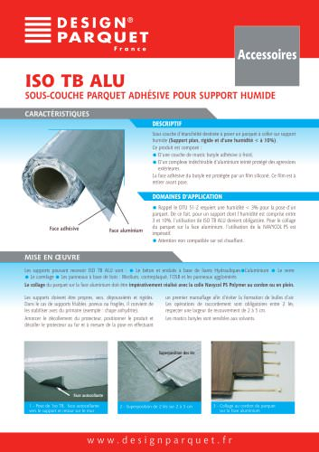ISO ALU TB Underlayer for parquet on damp support