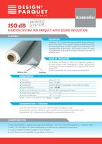ISO DB Fixation sytem for parquet with sound insulation
