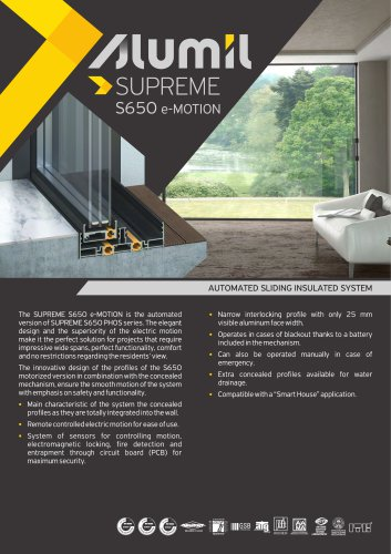 Technical Brochure SUPREME S650 e-MOTION