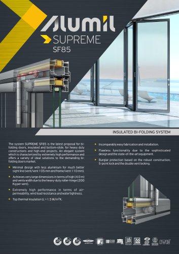 Technical Brochure SUPREME SF85