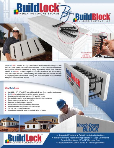 """BBM-2005 """"BuildLock"""" Flyer - Pkg. of 100"""
