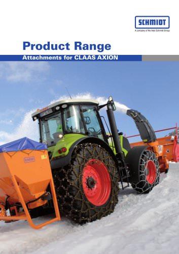 Attachments for tractors:Traxos 12 VCXN