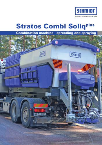 Combination machines for spraying and spreading:Stratos Combi Soliq Plus