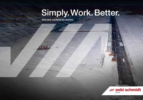 Simply. Work. Better. One-stop solutions for airports