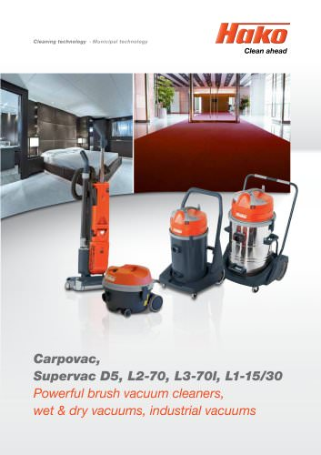 Wet and dry vacuum systems:Hako-Supervac L 3-70 I
