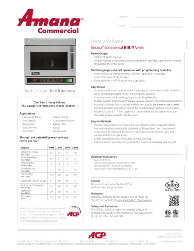 Amana® Commercial HDC-Y Series