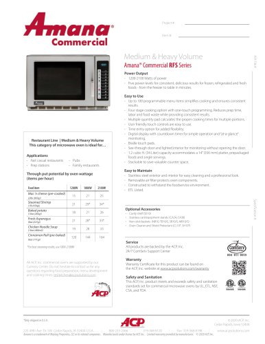 Amana® Commercial RFS Series