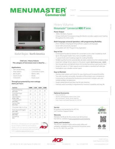 Menumaster® Commercial MDC-Y Series