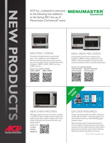 New Products Menumaster 2020-2021