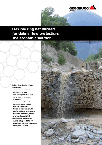 Flexible ring net barriers for debris flow protection