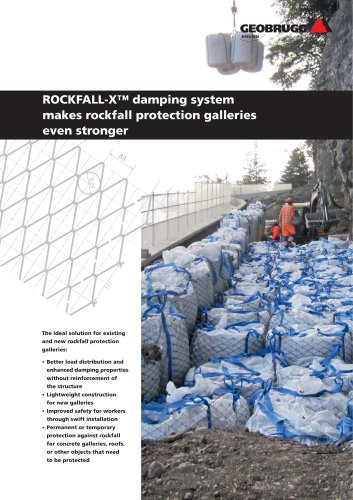 ROCKFALL-X damping system makes rockfall protection galleries even stronger