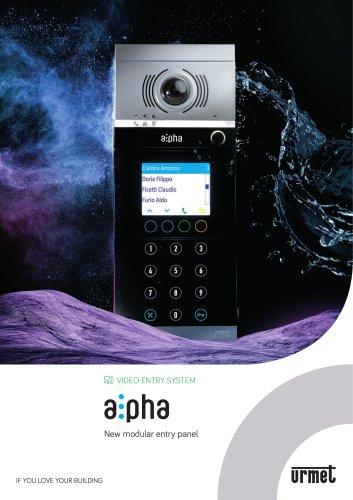 Alpha, modular entry panel