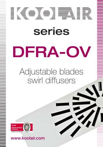 Adjustable blades swirl diffusers – DFRA OV