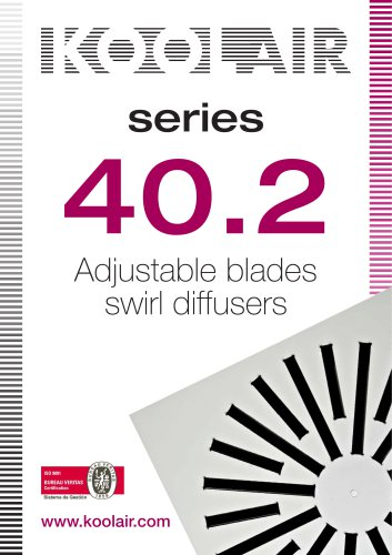 Adjustable blades swirl diffusers – Series 40.2