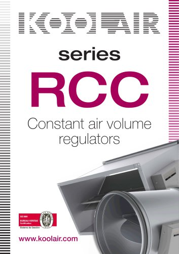 Constant air volume regulators – Series RCC