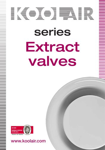 Extract valves – Series GPD
