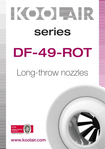 Long-throw nozzles – DF 49 ROT