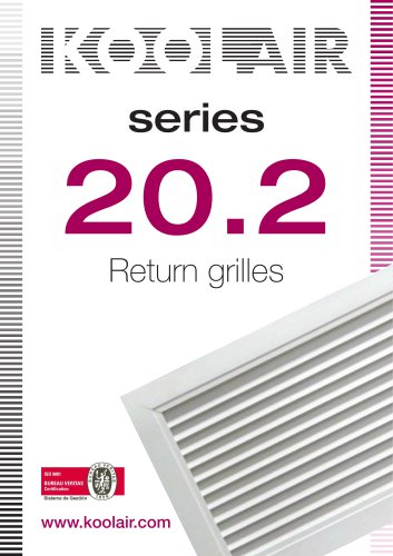 Return grilles – Series 20.2