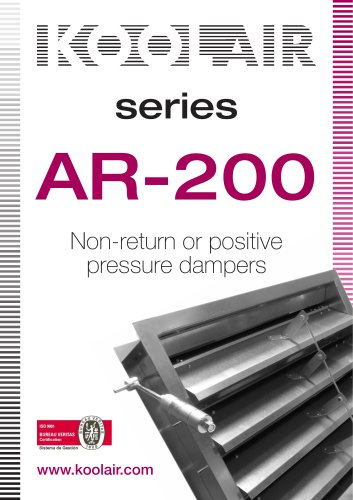 Series AR-200 Non-return or positive pressure dampers