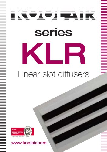Series KLR Linear slot diffusers