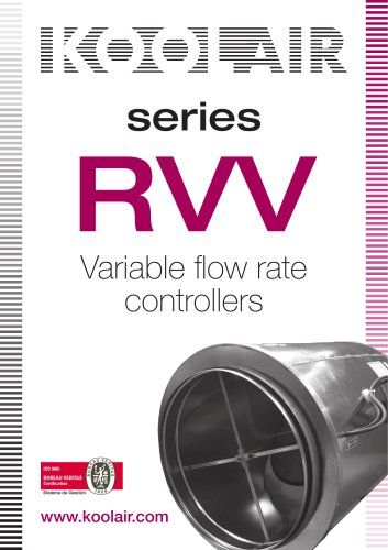 Series RVV Variable flow rate controllers