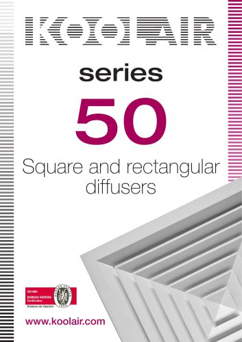 Square diffusers – Series 50