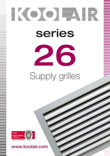 Supply grilles – Series 26