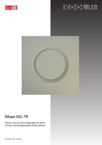 Thermo-adjustable circular diffuser – DCL TR
