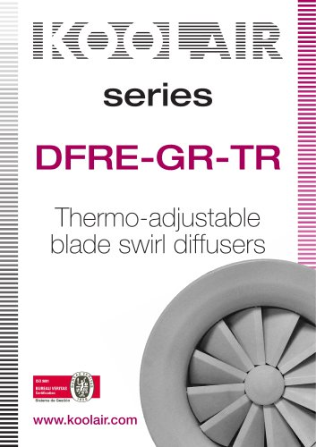 Thermo adjustables diffusors – DFRE GR-TR