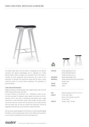High Stool | Aluminium