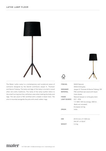 Lathe Lamp