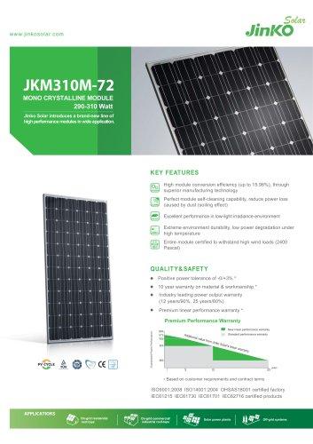 Standard Module:JKM310M-72(290W~310W) - Jinko solar - PDF