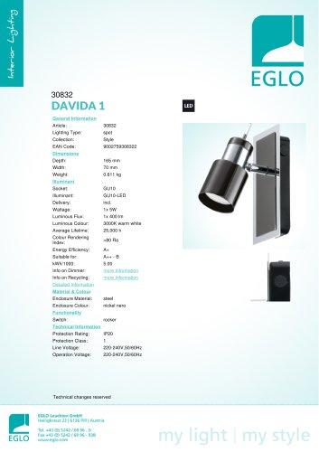 Eglo Lampe /à Grille en Aluminium 40 W Blanc