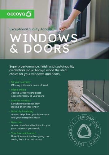 Accoya Benefits Flyer – windows & doors