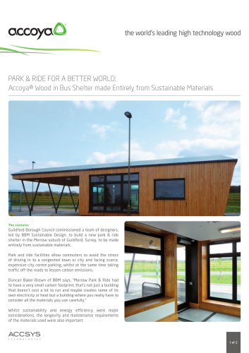 Accoya® Wood in Bus Shelter made Entirely from Sustainable Materials