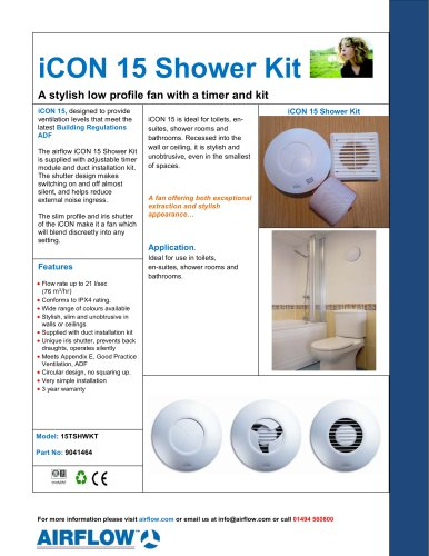 iCON 15 Shower Kit