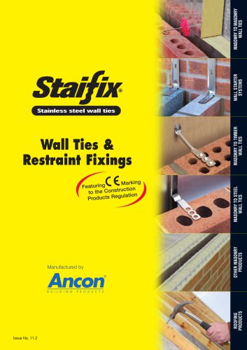 Staifix Complete Guide to Wall Ties and Restraint Fixings