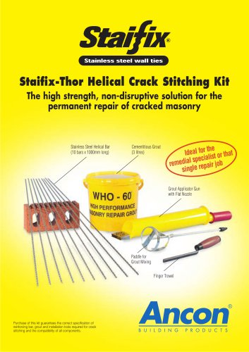 Staifix-Thor Helical Crack Stitching Kit