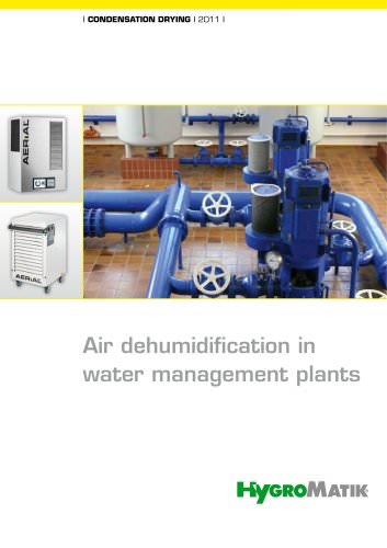 Air dehumidification in water management plants