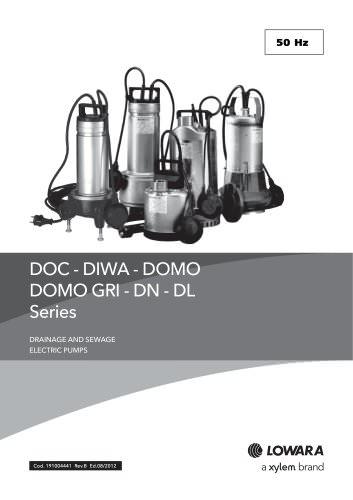 DOC - DIWA - DOMO - DOMO GRI - DN - DL Series 50 Hz