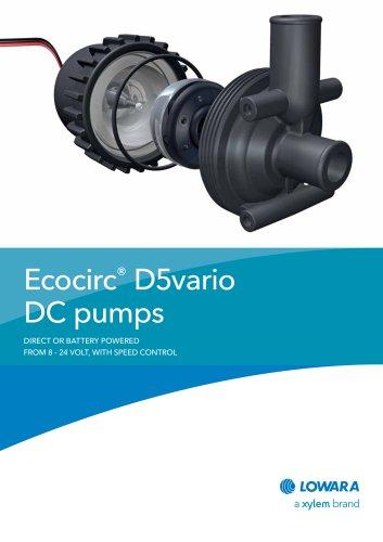 Ecocirc® D5vario DC pumps