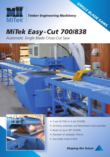 Automatic Single Blade Cross-Cut Saw