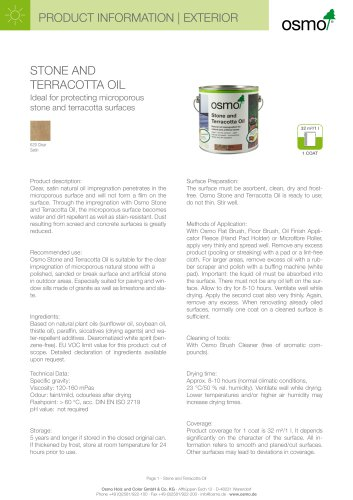 STONE AND TERRACOTTA OIL