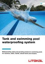Tank and swimming pool waterproofing system