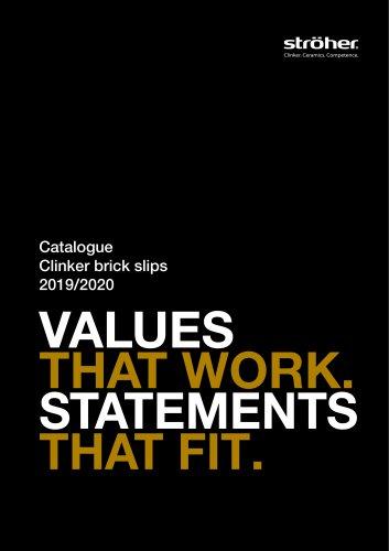 Catalogue Clinker brick slips 2019/2020