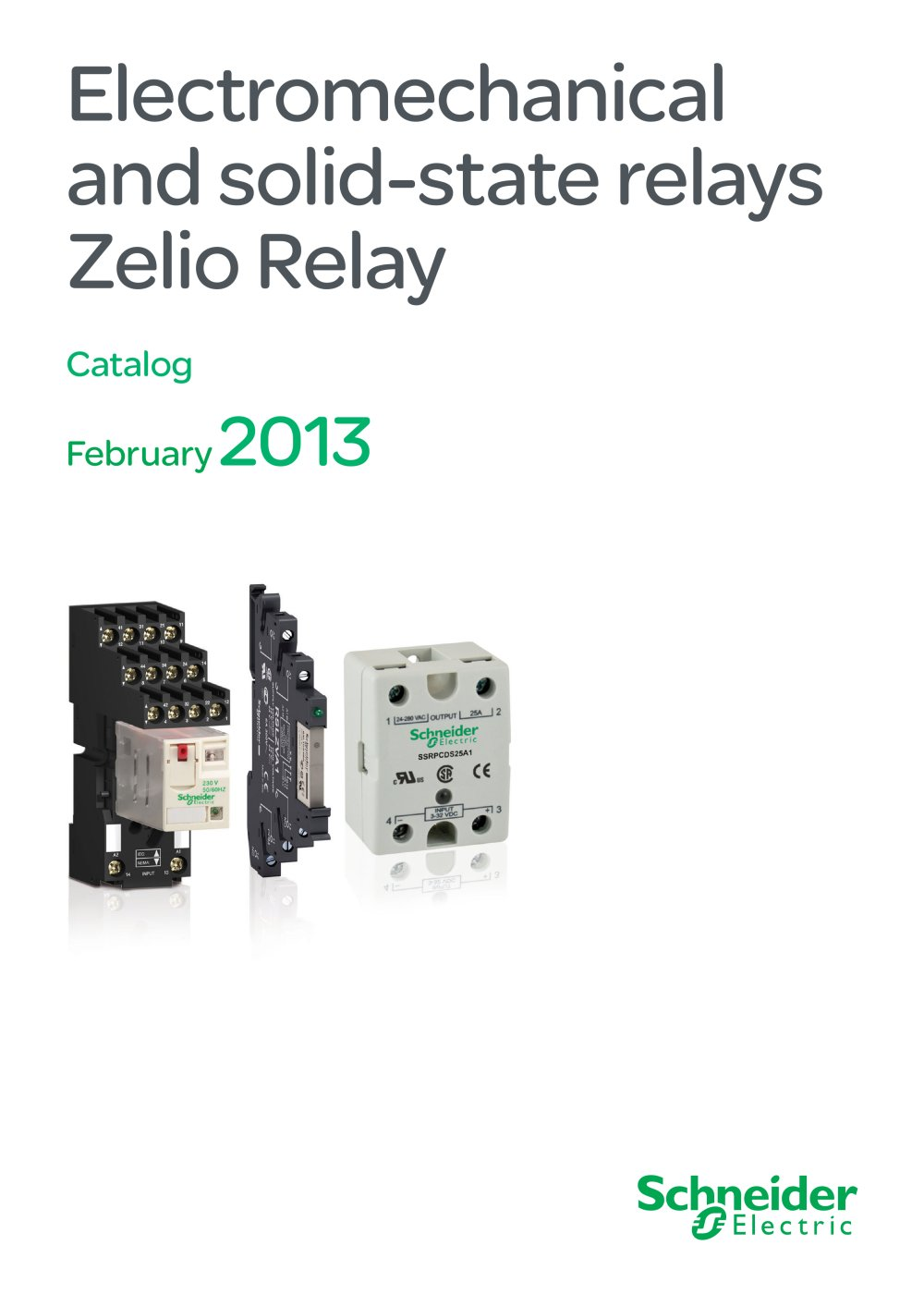 Electromechanical And Solid State Relays Zelio Relay 2013 Working 1 48 Pages
