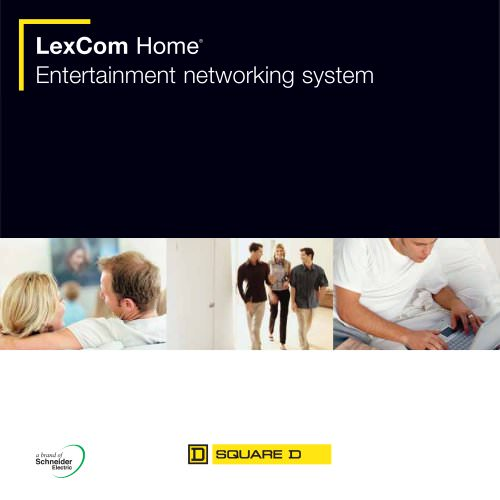 LexCom Home - Entertainment networking system brochure